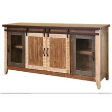 """See Details - 70"""" TV Stand w/2 Glass doors w/1 middle shelf, 2 Sliding doors, w/2 shelves"""
