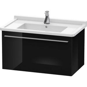 Vanity Unit Wall-mounted, Black High Gloss (lacquer)