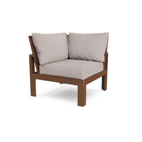 Teak & Dune Burlap Modular Corner Chair
