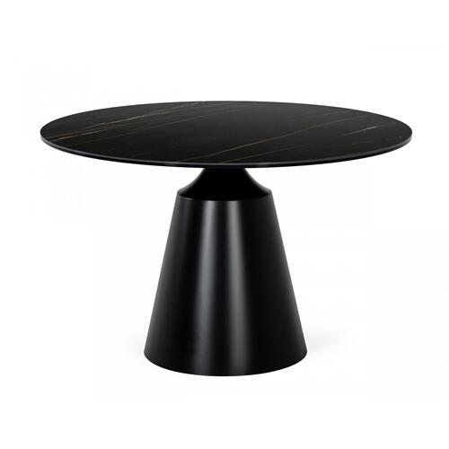Gallery - Modrest Edith - Modern Round Black Ceramic Dining Table