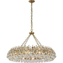 AERIN Bellvale LED 37 inch Hand-Rubbed Antique Brass Ring Chandelier Ceiling Light, Large