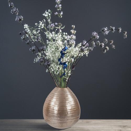 Howard Elliott - Chiseled Champagne Teardrop Vase, Small