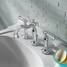 See Details - Quentin 2-Handle 8 Inch Widespread Bathroom Faucet - Polished Chrome