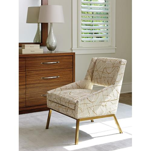 Amani Chair With Bright Brass Base