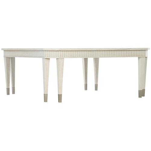 Allure Square Cocktail Table in Silver Mist (399)