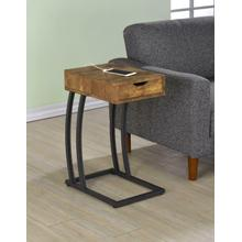 See Details - Industrial Antique Nutmeg Accent Table