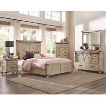 King Bedroom Set: King Bed, Nightstand, Dresser & Mirror