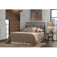 Tripoli Queen Headboard With Frame, Metallic Brown