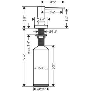 Matte Black Soap Dispenser, Talis