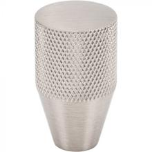 View Product - Beliza Conical Knurled Knob 3/4 Inch Brushed Satin Nickel Brushed Satin Nickel