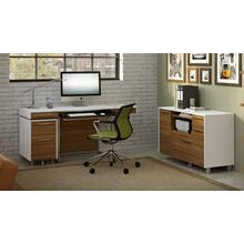 See Details - Format 6301 Desk in Natural Walnut Satin White