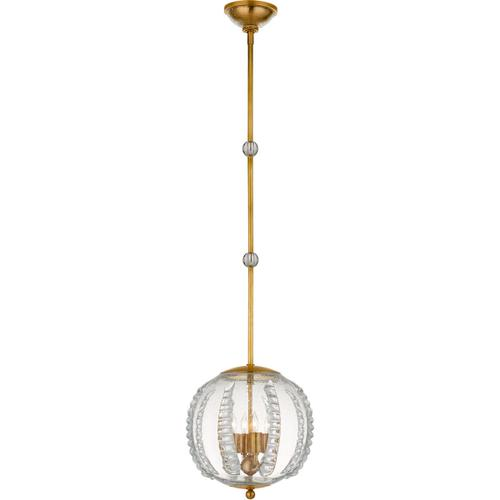 AERIN Gisela 4 Light 13 inch Hand-Rubbed Antique Brass Globe Pendant Ceiling Light, Medium