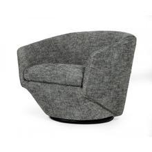 View Product - Divani Casa Tyson - Modern Dark Grey Fabric Accent Chair