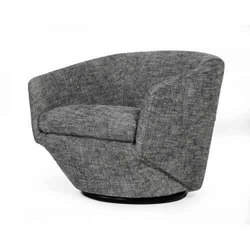 VIG Furniture - Divani Casa Tyson - Modern Dark Grey Fabric Accent Chair