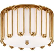 AERIN Molene 3 Light 15 inch Gild Flush Mount Ceiling Light, Medium