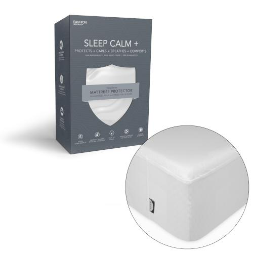 Sleep Calm + Ultra-Premium Mattress Protector with Moisture and Bacteria Resistant Crypton Fabric, Twin