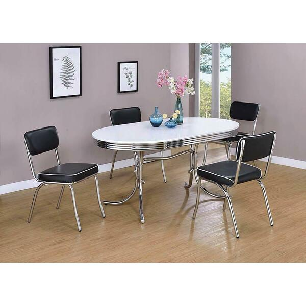 See Details - Retro Collection Chrome Dining Chair