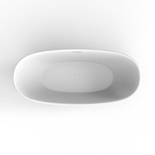 """Mystique 59"""" Acrylic Double Slipper Tub with Integral Drain - Oil Rubbed Bronze Drain and Overflow"""