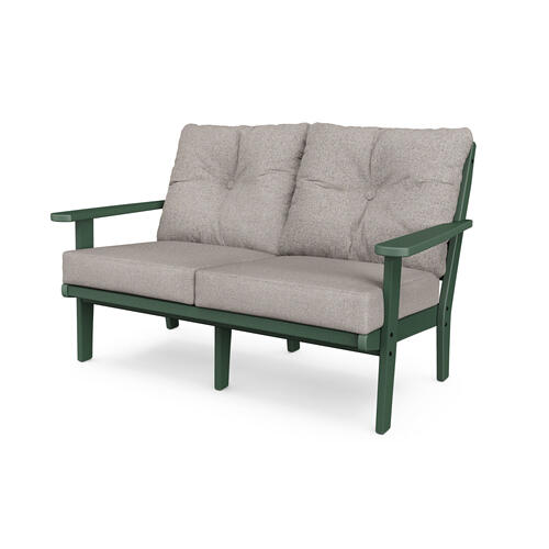Green & Weathered Tweed Lakeside Deep Seating Loveseat