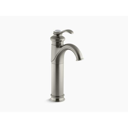 Vibrant Brushed Nickel Bathroom Sink Faucet With Single Lever Handle
