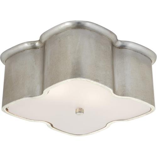 Visual Comfort - AERIN Bolsena 2 Light 12 inch Burnished Silver Leaf Flush Mount Ceiling Light