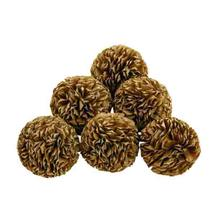 "NATURAL DECORATIVE BALL 4""D"