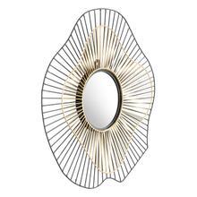 See Details - Comet Round Mirror Black & Gold