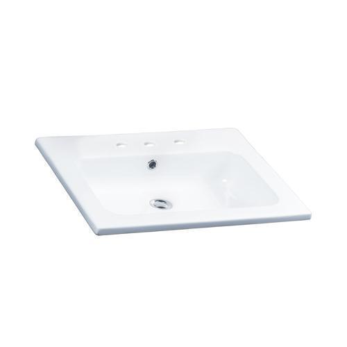 """Cilla 24"""" Drop-In Wash Basin - 8"""" Widespread"""