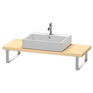 Console For Above-counter Basin And Vanity Basin Compact, Mediterranean Oak (real Wood Veneer)