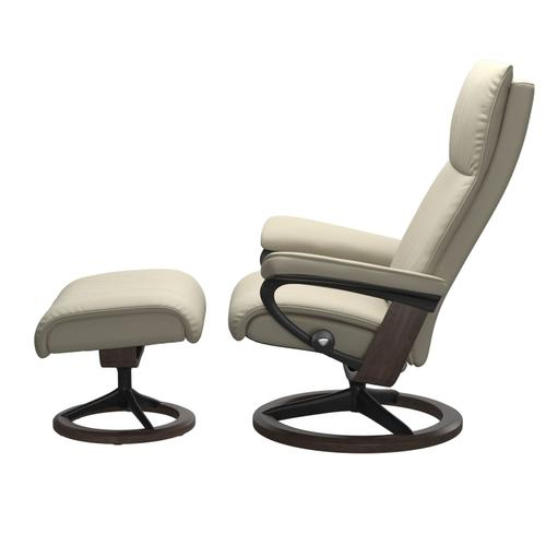 Stressless By Ekornes - Stressless® Aura (L) Signature chair with footstool