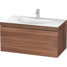 Furniture Washbasin C-bonded With Vanity Wall-mounted, Natural Walnut (decor)
