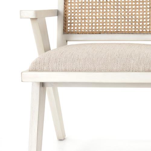 Distressed Cream Finish Flora Dining Chair