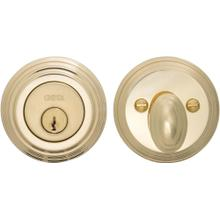 Traditional Auxiliary Deadbolt Kit in (US3 Polished Brass, Lacquered)