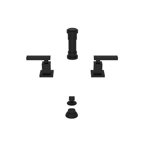 Newport Brass - Flat Black Bidet Set