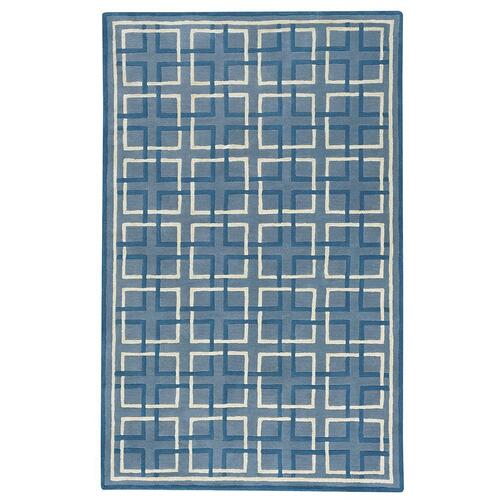 Gallery - Square Trellis Lt. Blue - Rectangle - 5' x 8'