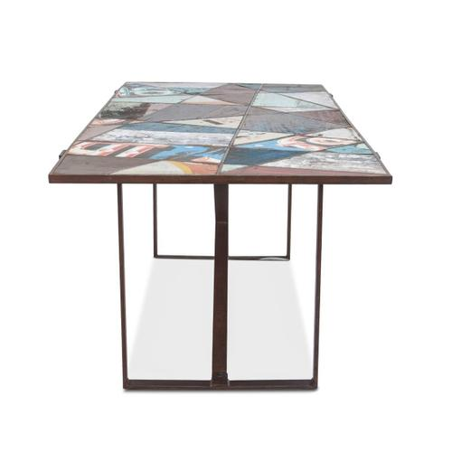 """Old Mill 78"""" Geometric Color Pop Dining Table"""