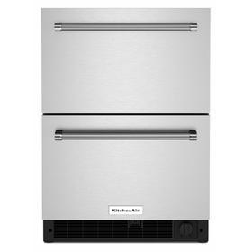 "24"" Stainless Steel Undercounter Double-Drawer Refrigerator/Freezer"