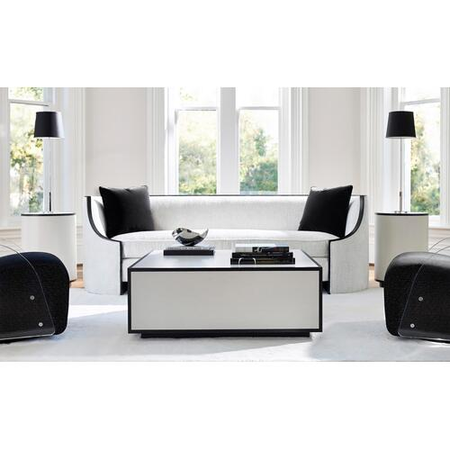 Silhouette Cocktail Table in Eggshell (307), Onyx (307)