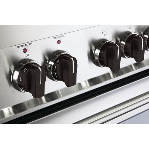 Color Knob Set for Designer Single Oven Gas Range - Black