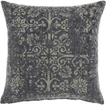 "Life Styles Gt657 Charcoal 22"" X 22"" Throw Pillow"
