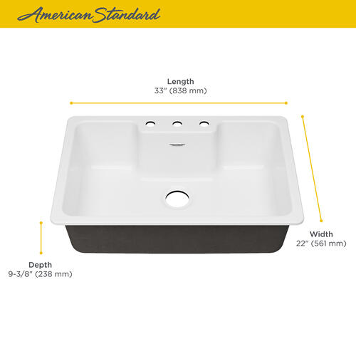 American Standard - Quince 33x22-inch Cast Iron Sink  American Standard - Brilliant White