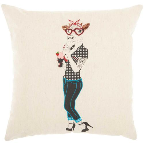 """Trendy, Hip, New-age Rn007 Natural 18"""" X 18"""" Throw Pillow"""