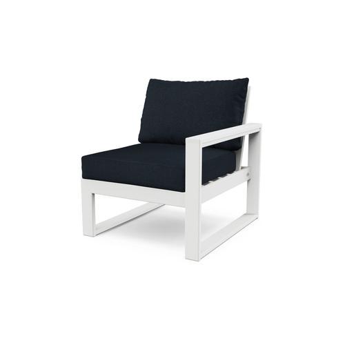 White & Marine Indigo EDGE Modular Right Arm Chair