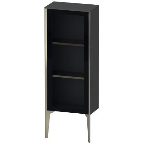 Duravit - Semi-tall Cabinet With Mirror Door Floorstanding, Graphite Matte (decor)