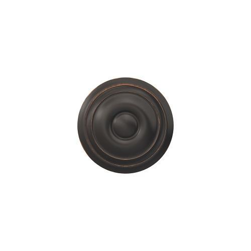 Custom Georgian Non-Turning Knob with Alden Trim - Aged Bronze