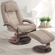 Bergen Recliner & Ottoman in Teatro Graphite Fabric