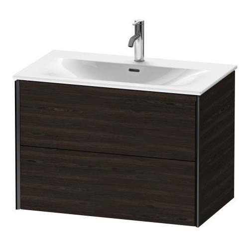 Duravit - Vanity Unit Wall-mounted, Brushed Walnut (real Wood Veneer)