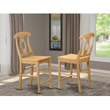 Kenley Counter Height Stools With Wood Seat In Oak Finish