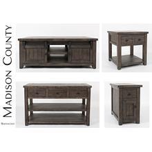 Madison County End Table - Barnwood