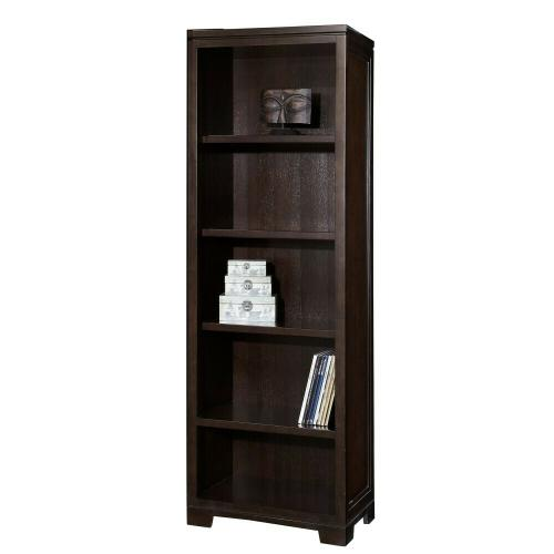 7-9185 Mocha Narrow Bookcase
